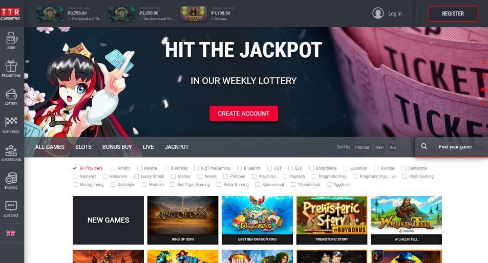 Официальный сайт ТТР казино