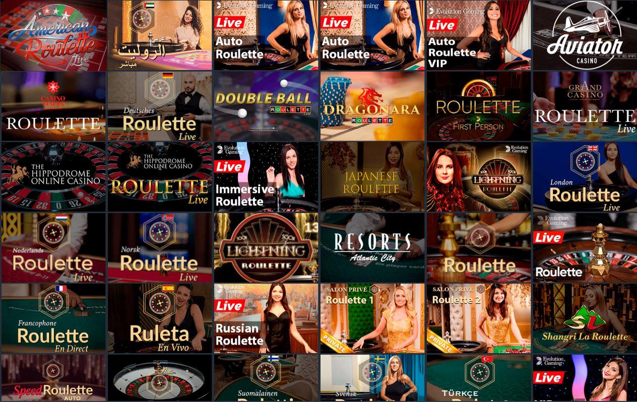 виды онлайн рулетки в казино